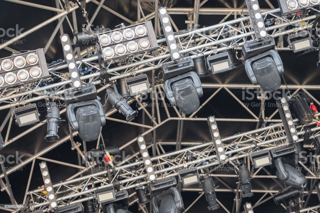 festival lighting rig stock photo