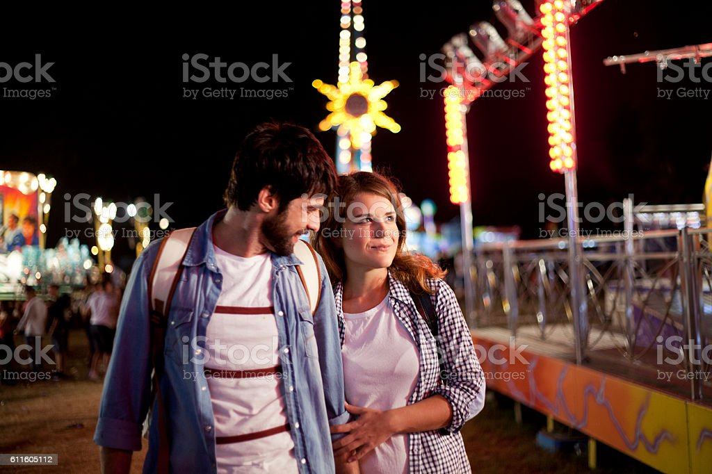 Festival nights stock photo
