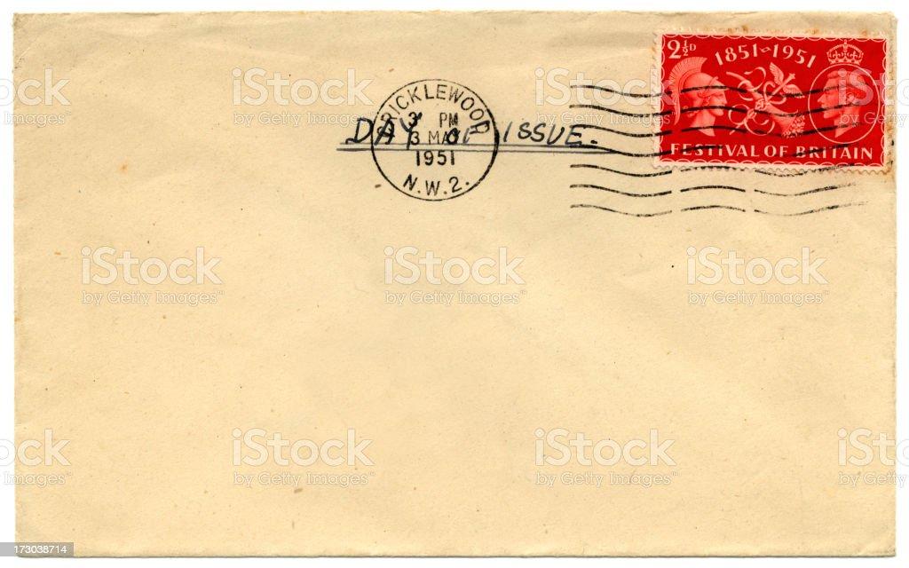 Festival of Britain envelope royalty-free stock photo