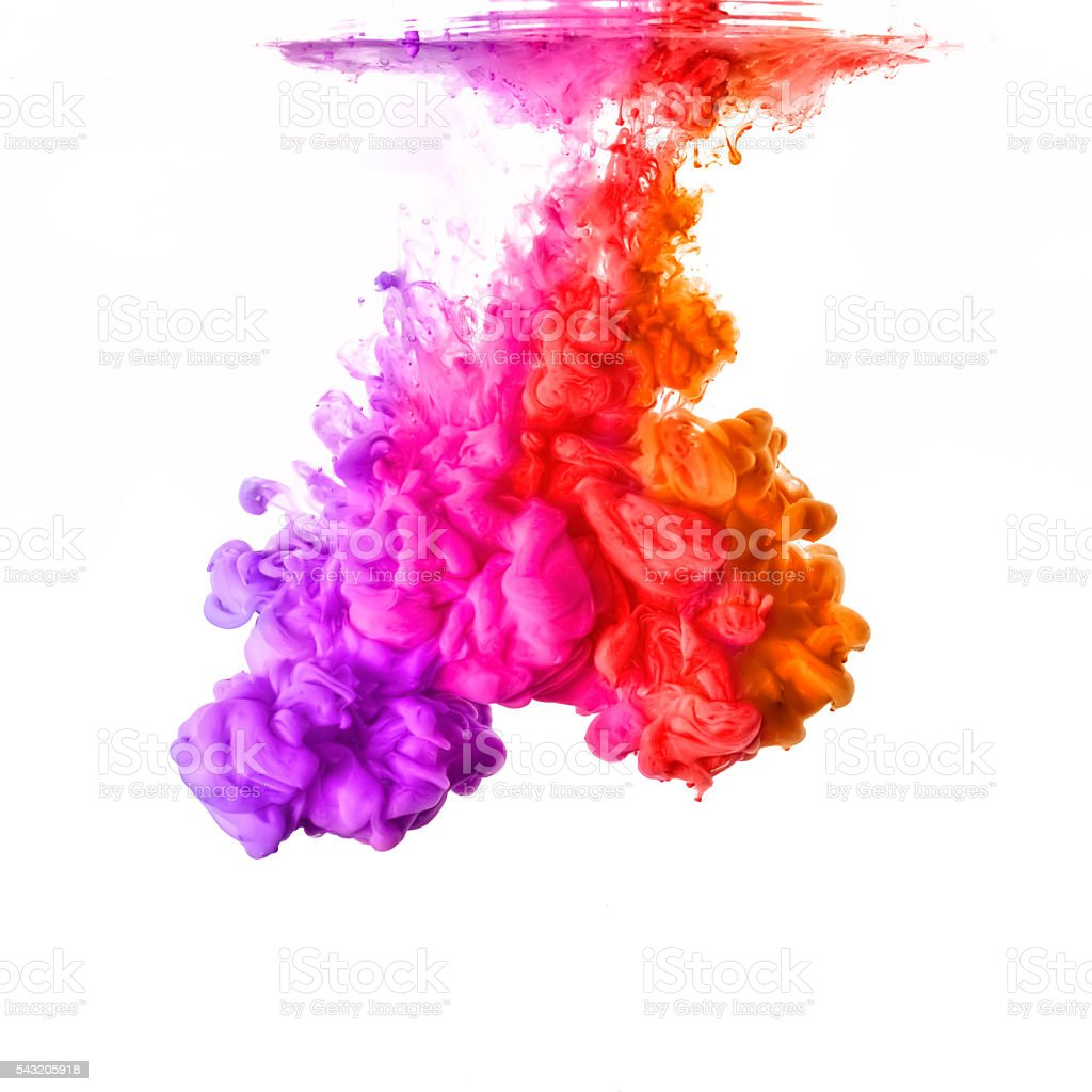 Festival of Colors. Acrylic Ink in Water. Color Explosion – Foto