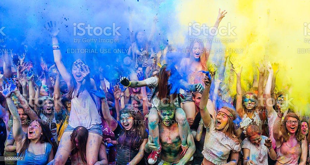 Festival of colors ColorFest stock photo