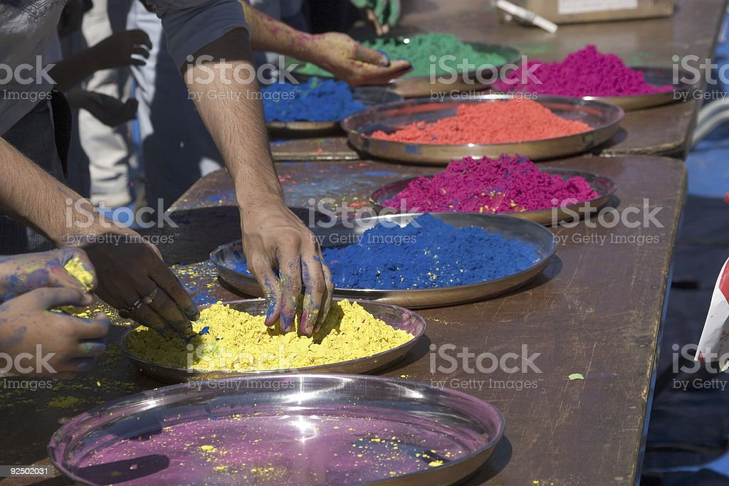 Festival Of Colours royalty-free stock photo