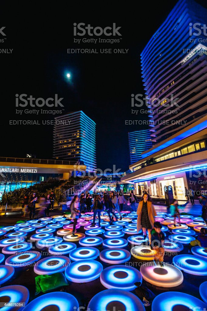 Festival of lights in Istanbul stock photo