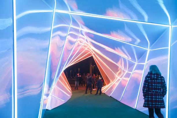 Festival of lights in Zagreb stock photo
