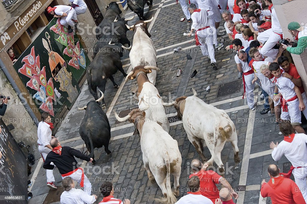 Festival of San Fermin in Pamplona, Navarra, Spain stock photo