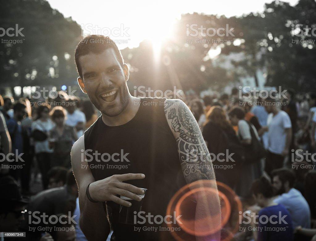 Festival People stock photo