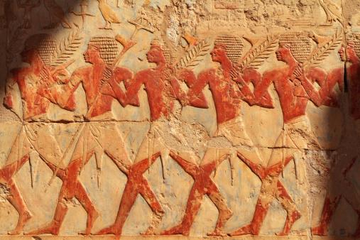 Festival Procession, Chapel of Hathor, Hatshepsut's Temple, Luxor, Egypt