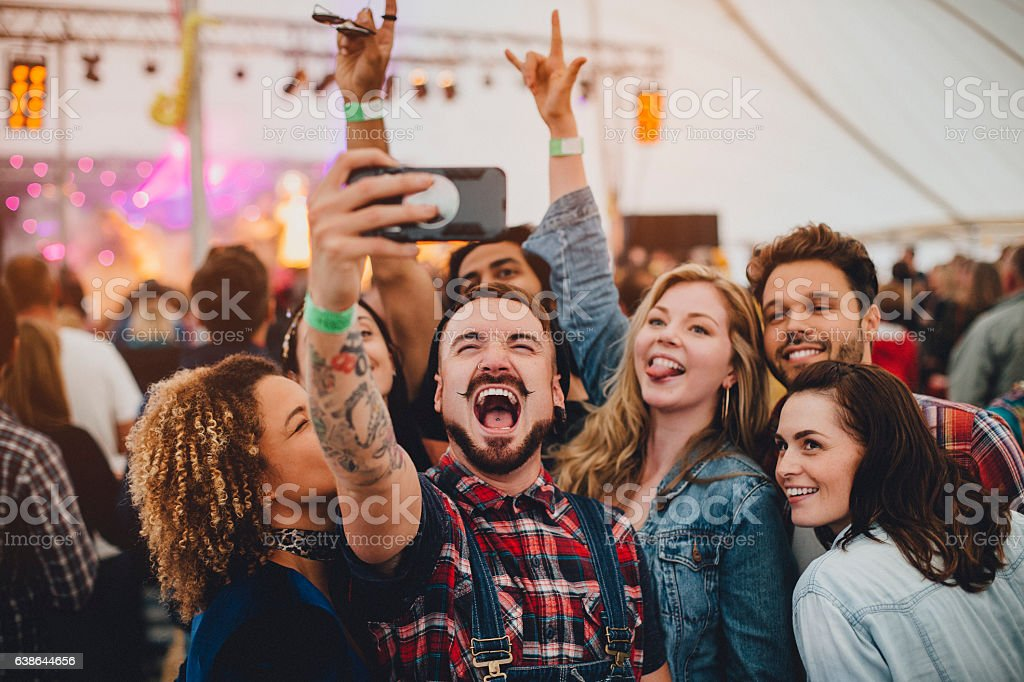 Festival Selfie stock photo