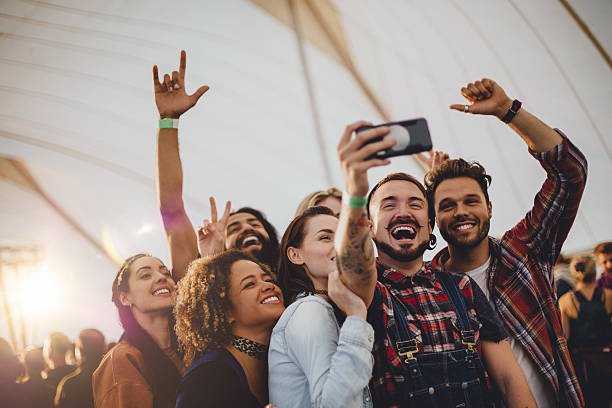 Festival Selfie stock photo