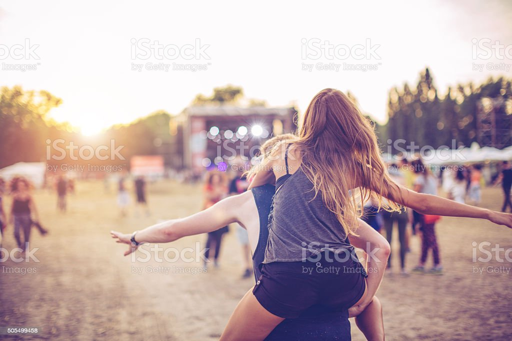 Festival vibes stock photo