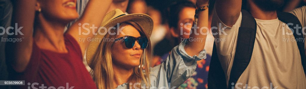 Festival woman stock photo