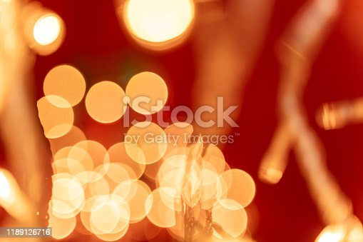 857847778 istock photo Festive abstract background with defocused Christmas lights 1189126716
