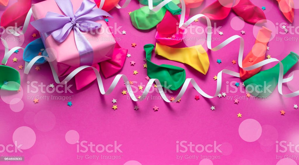 Festive background decorative composition materials for celebration and decoration. royalty-free stock photo