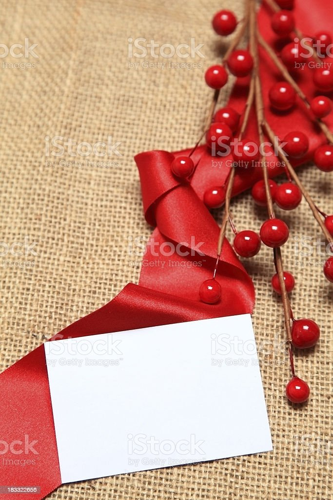 Festive background with blank note royalty-free stock photo