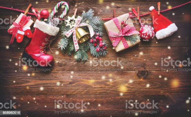 Festive background with christmas presents santas accessories and on picture id858960516?b=1&k=6&m=858960516&s=612x612&h=joxou82gkvzyz1m10ga8u33k xu4 v 8k5syh0zffvy=