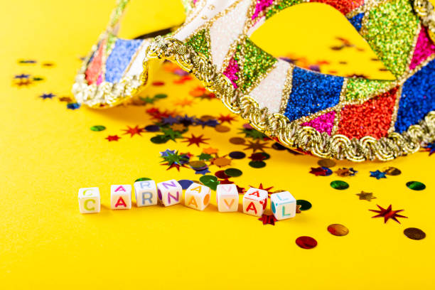 Festive background with colorful gift presents stock photo