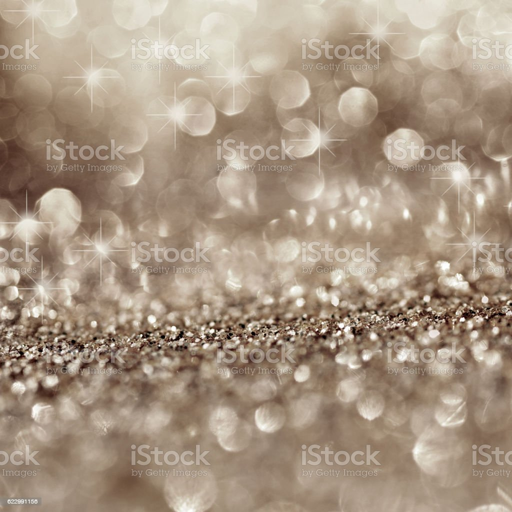 Festive background with stars and bokeh stock photo