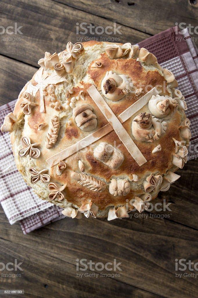 Festive bakery Holiday Bread stock photo
