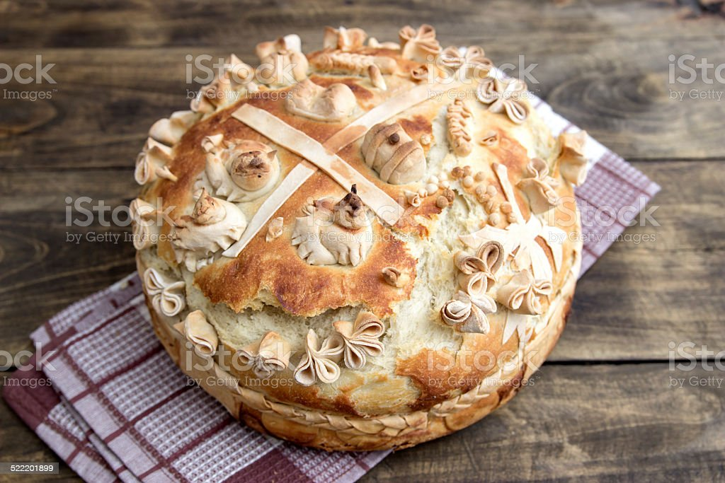 Festive bakery Holiday Bread stock photo