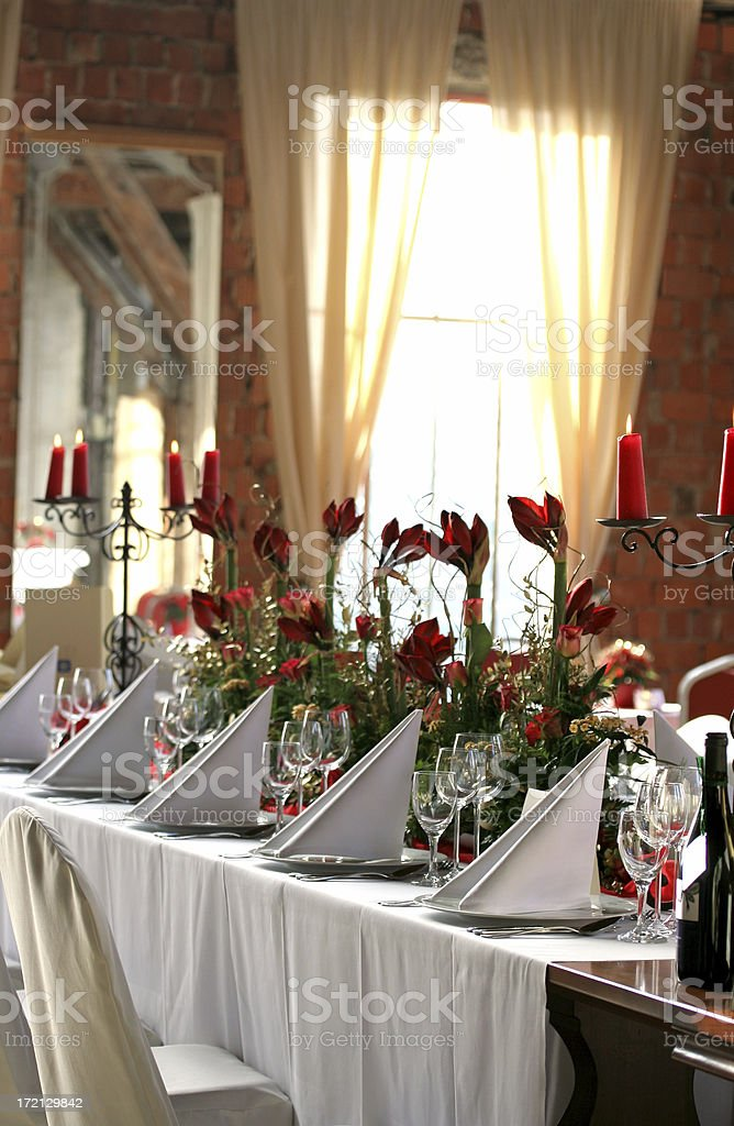Festive banquet table royalty-free stock photo