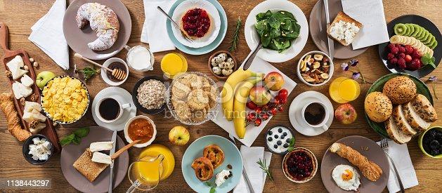 Breakfast table.