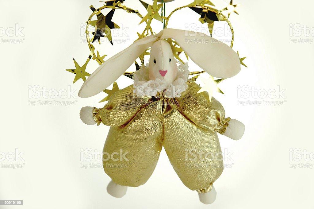 Festive bunny royalty-free stock photo
