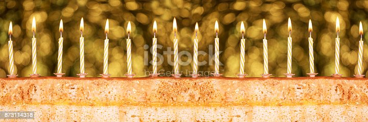 istock Festive cake for New Year's Eve 873114318