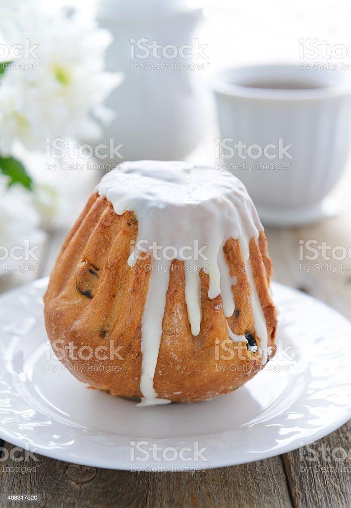 Gâteau de fête avec Glaçage blanc - Photo