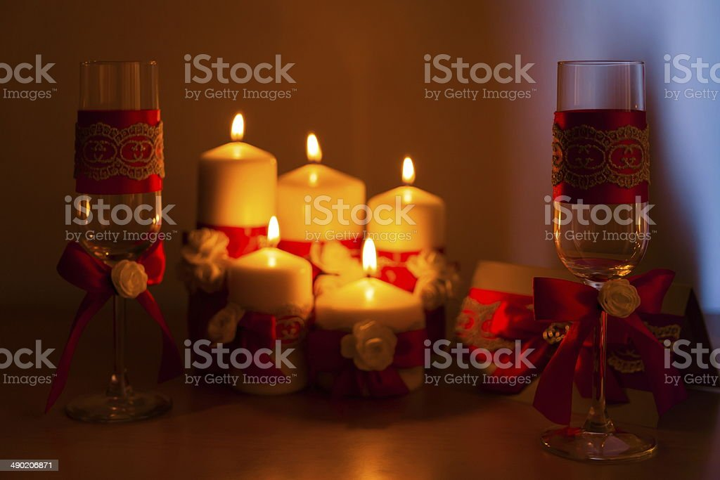 festive candles royalty-free stock photo
