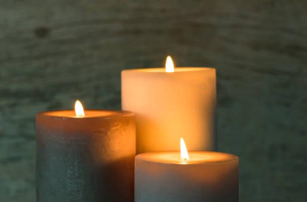 Festive Candles stock photo