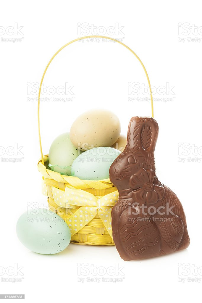 Festive Chocolate Easter Bunny royalty-free stock photo
