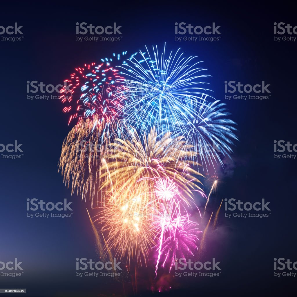 Festliche bunten Feuerwerk – Foto