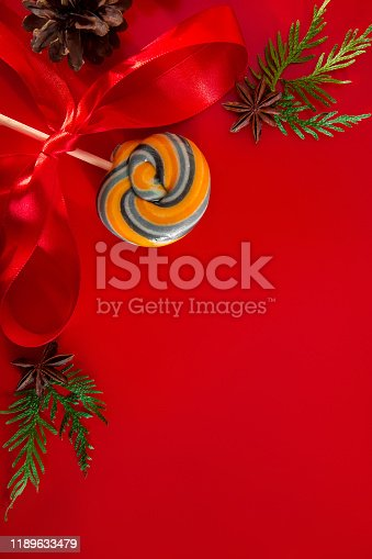 istock Festive composition of cones 1189633479