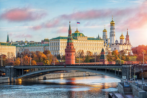 Festive day of November Festive day of November in the Moscow Kremlin in the early autumn morning moscow russia stock pictures, royalty-free photos & images