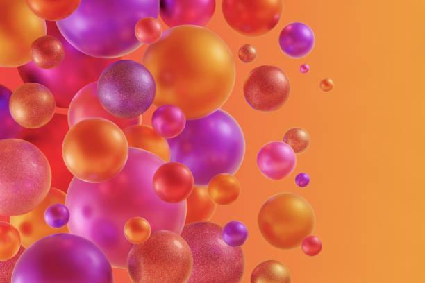 Festive Design of Colour Balls stock photo
