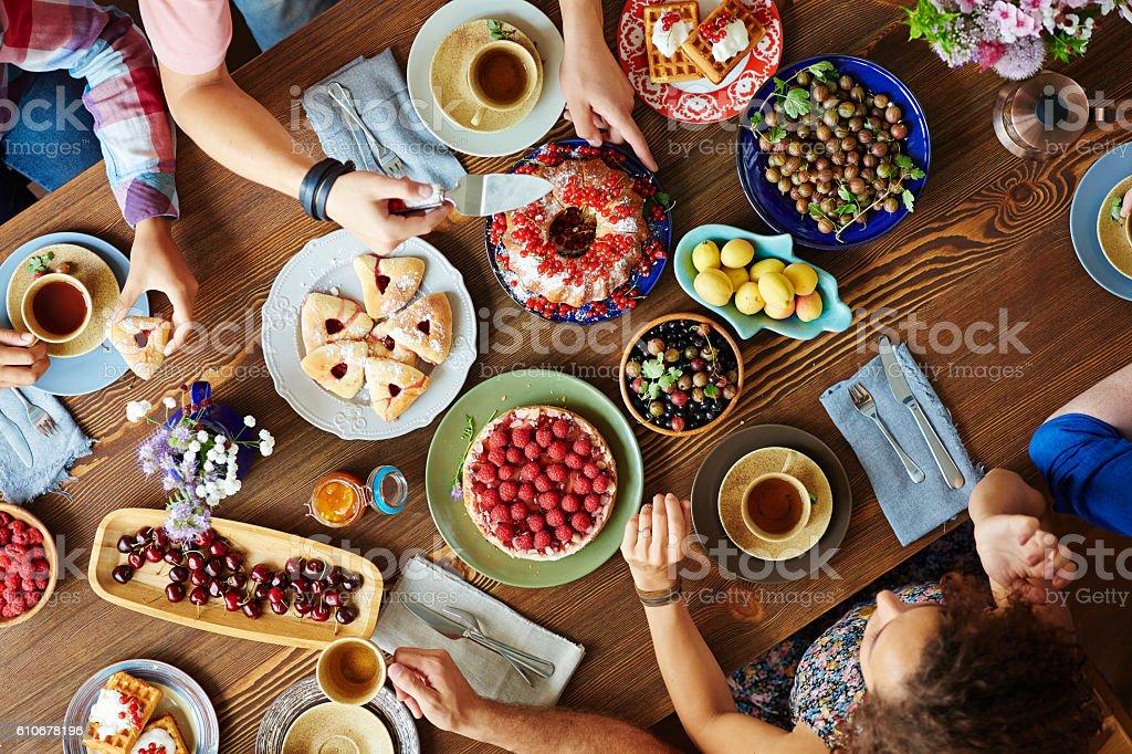 Festive dinner stock photo