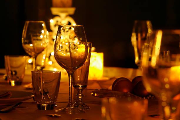 Festliches Abendessen Tisch – Foto