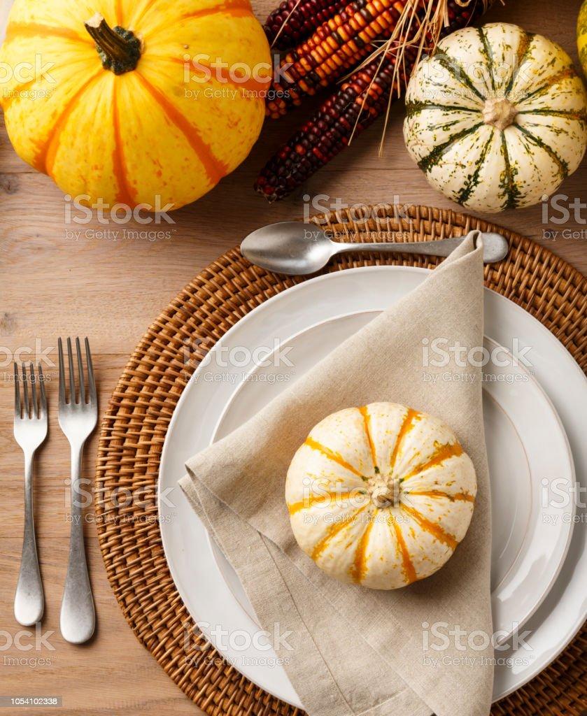 Festive Fall Thanksgiving Table Setting Place Setting Home