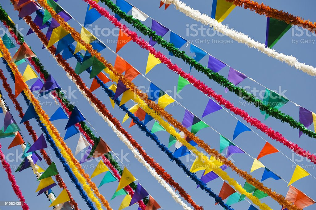 Festive flags royalty-free stock photo