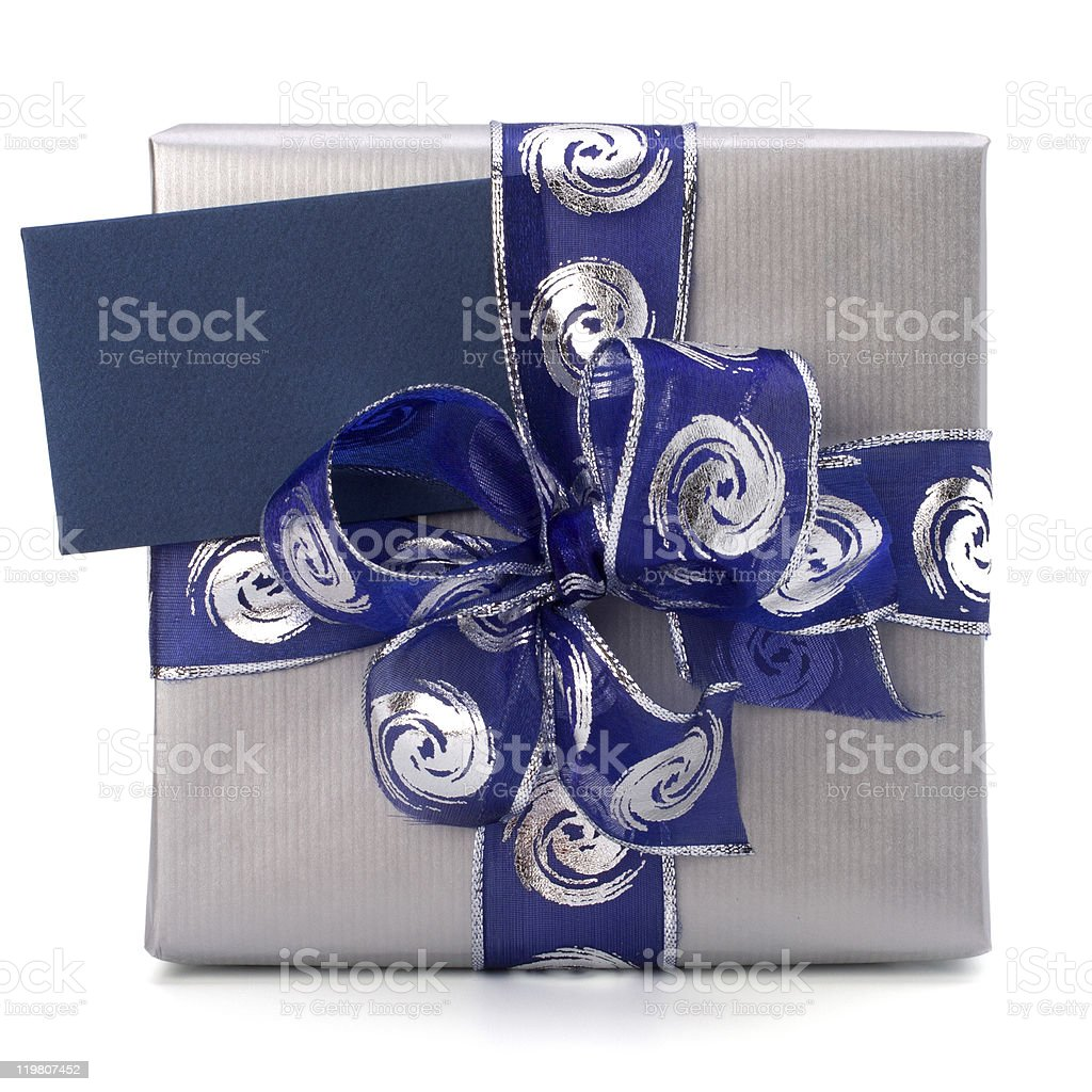 festive gift box royalty-free stock photo