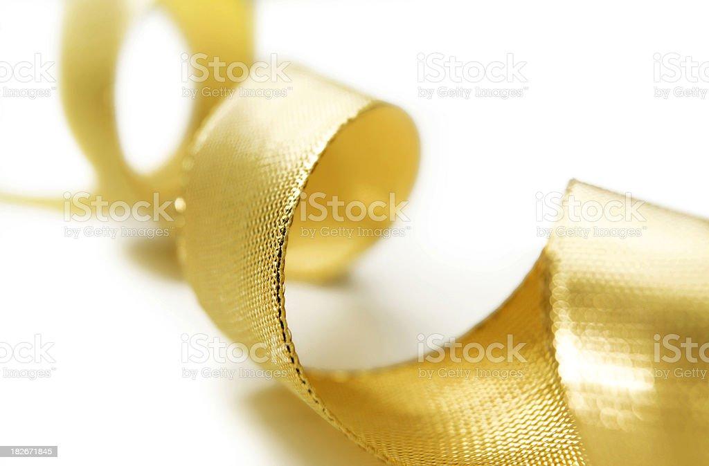 Festive Gold Ribbon royalty-free stock photo