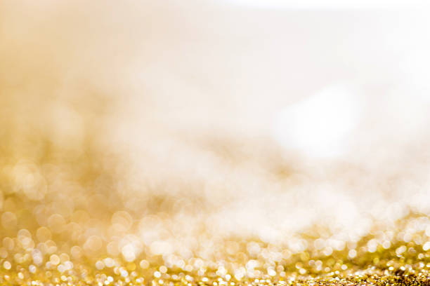 festive golden shiny lights for background - two dimensional shape stock photos and pictures