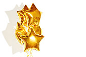The golden balloon of the stars shine and shine