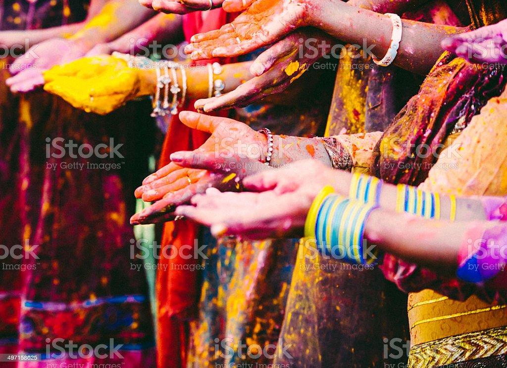 Festive Hands stock photo