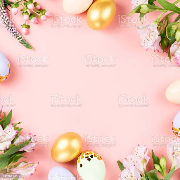 Festive happy easter background with decorated eggs flowers candy and picture id1129069217?b=1&k=6&m=1129069217&s=612x612&h=lyabjtucrj7 9b8gwsd1hzqjjkd  hoomu8n8xx52oe=