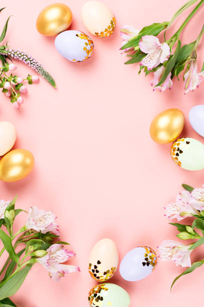 Festive happy easter background with decorated eggs flowers candy and picture id1132846220?b=1&k=6&m=1132846220&s=612x612&w=0&h=wgfjyp2kp3u3fttkptzx0tmkmkbowfuqa31d80bu5da=