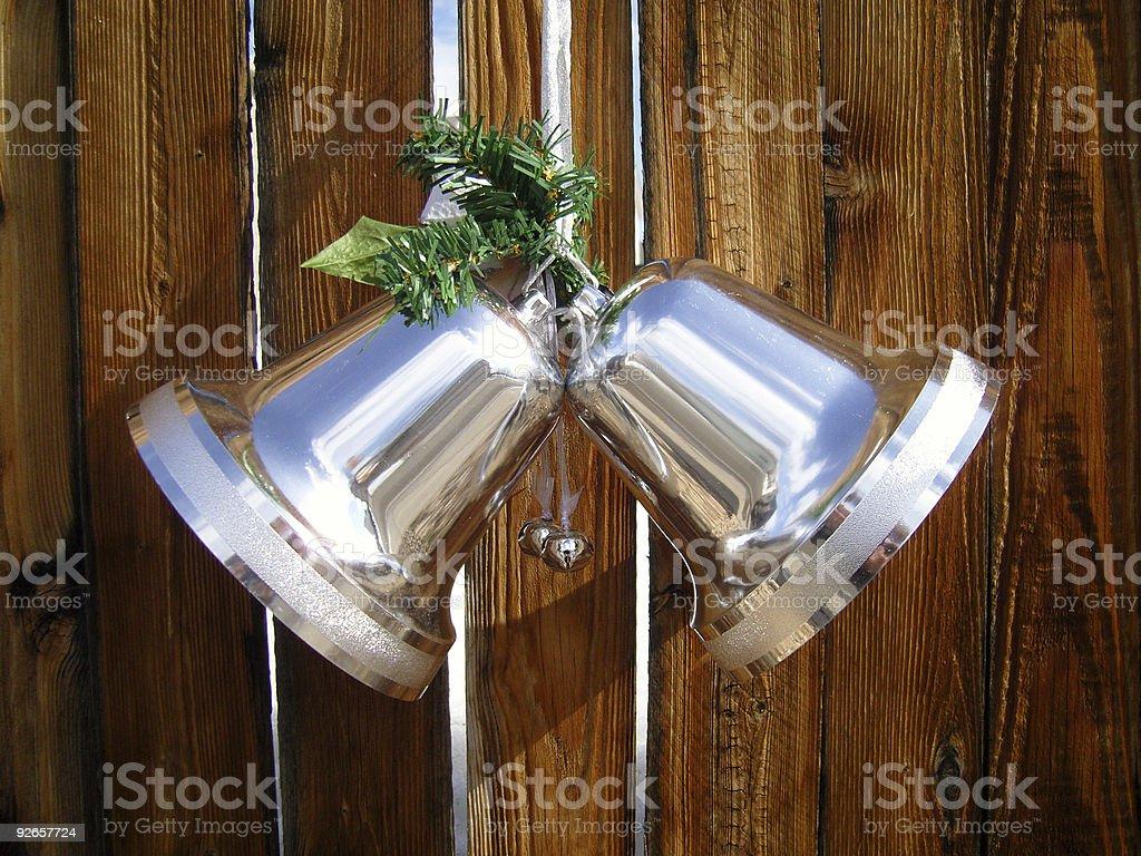 Festive holiday bells royalty-free stock photo