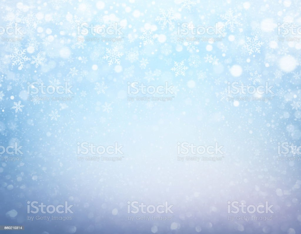 Festive iced winter background stock photo