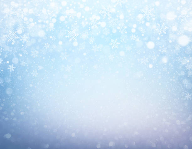 festive iced winter background - snowflake background stock pictures, royalty-free photos & images