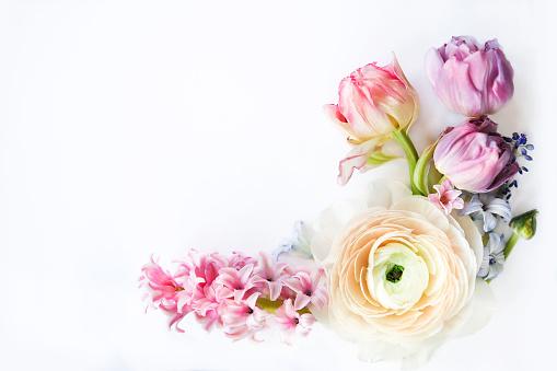 Festive invitation card with beautiful flowers